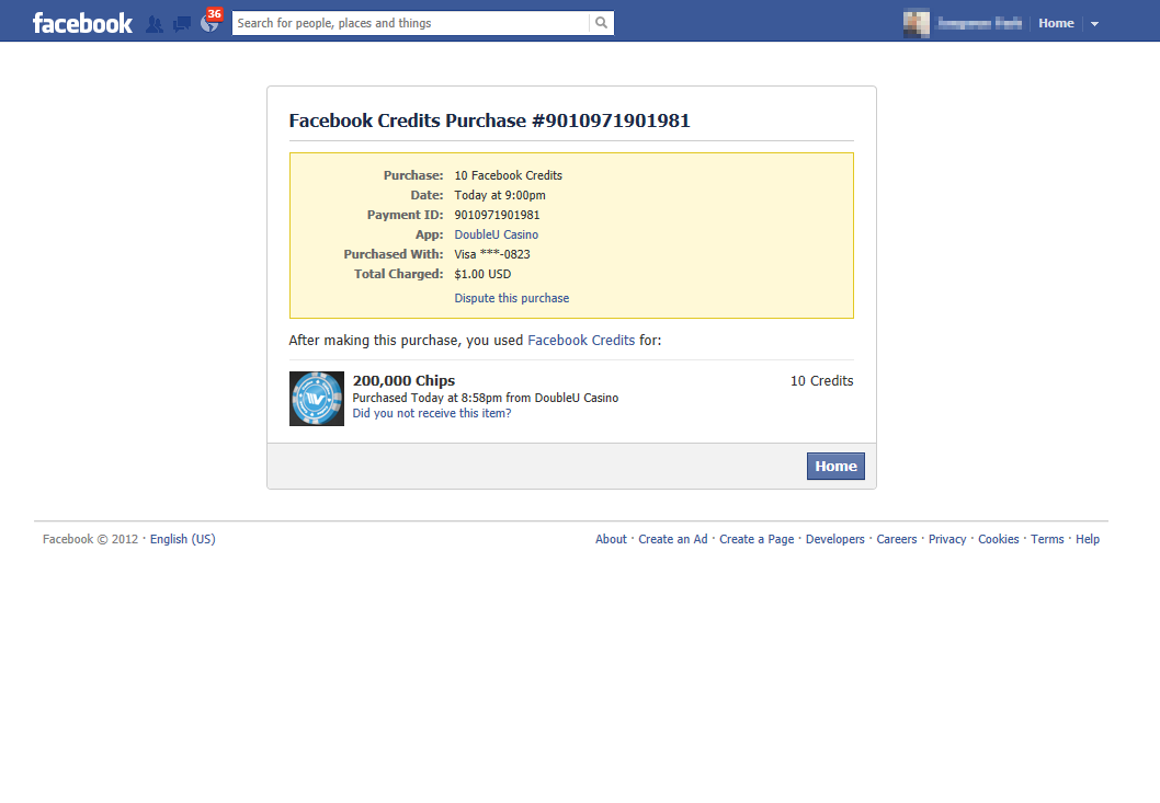 how to delete payment history on facebook